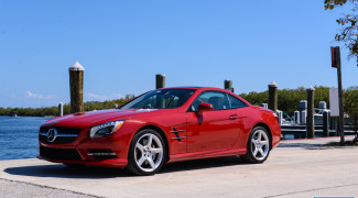 2013 Mercedes SL550 Red front 3/4 dock