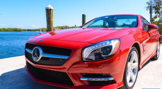 2013 Mercedes SL550 Red front shot