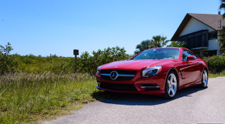 2013 SL550 Red Front quarter shot
