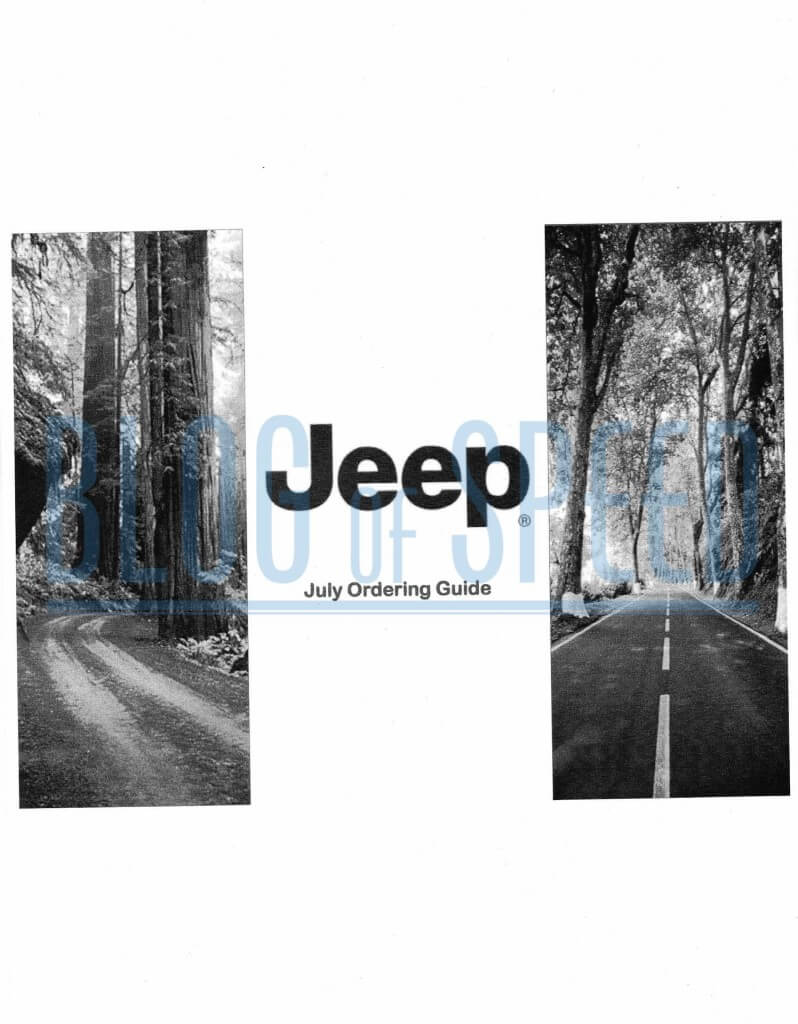 2016 Jeep Wrangler order guide page 1