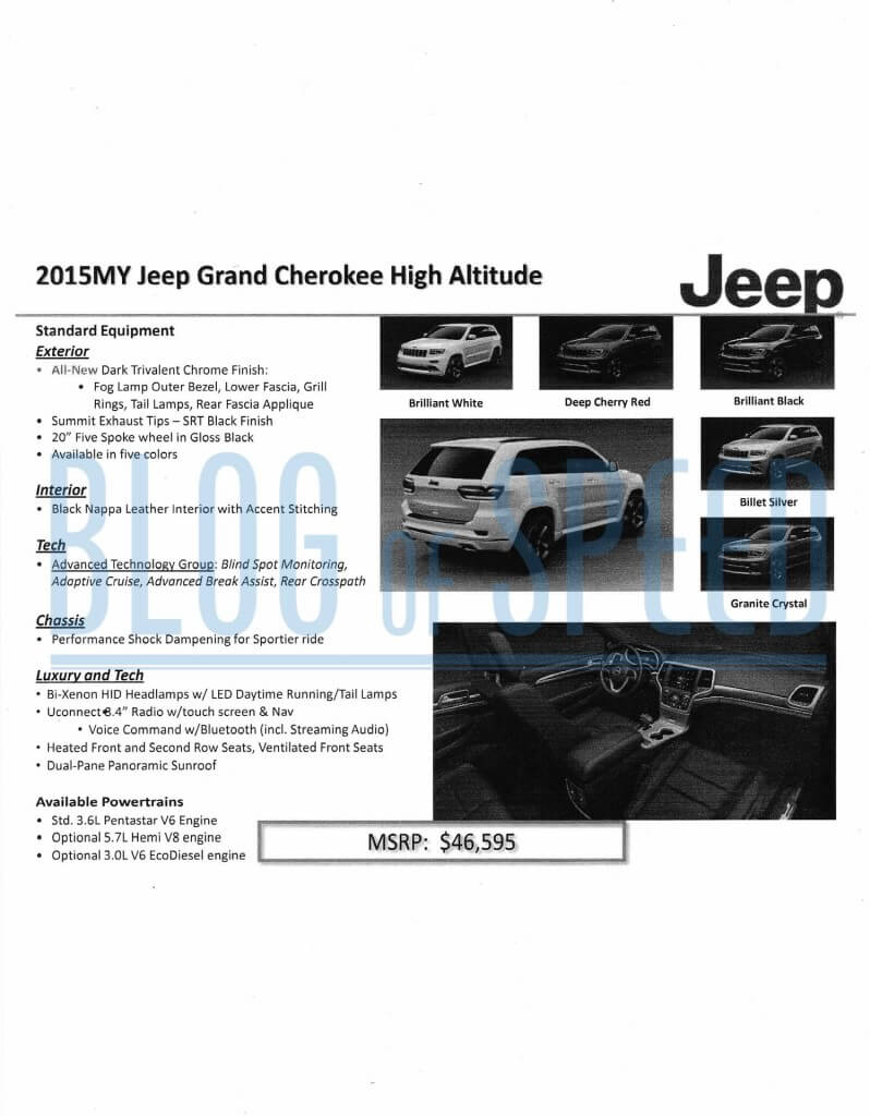2016 Jeep Wrangler order guide page 2