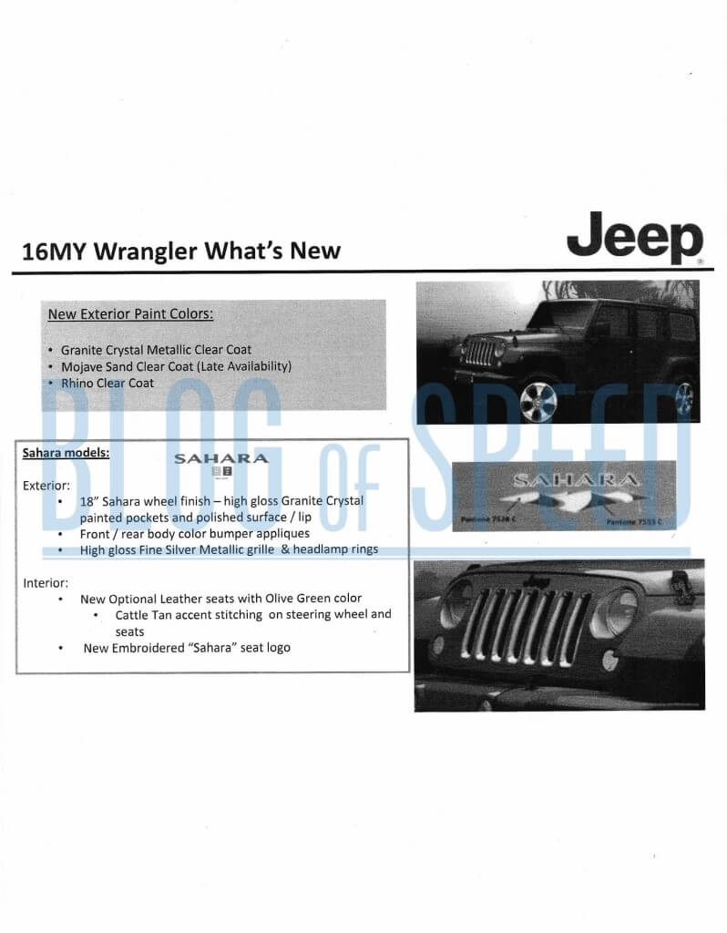 2016 Jeep Wrangler order guide page 8